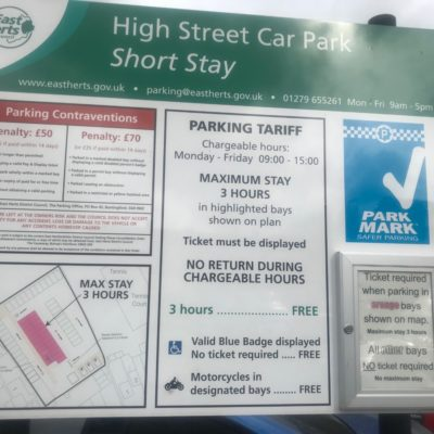 High Street Car Park Charges